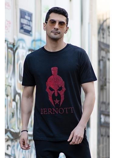 Bernotti 79 Siyah Özel Baskı Detaylı Erkek T-Shirt Siyah